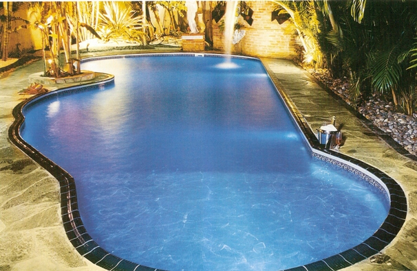 Modelo de piscina a1 ponto das piscinas goi nia - Tipos de piscinas para casas ...
